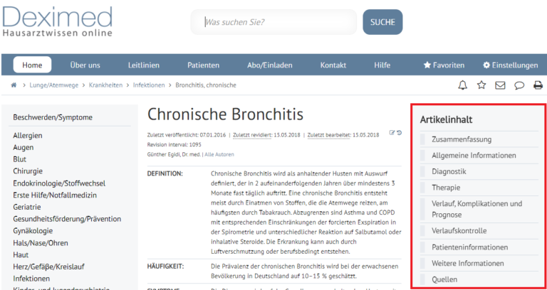 Screen Shot Chronische Brochitis