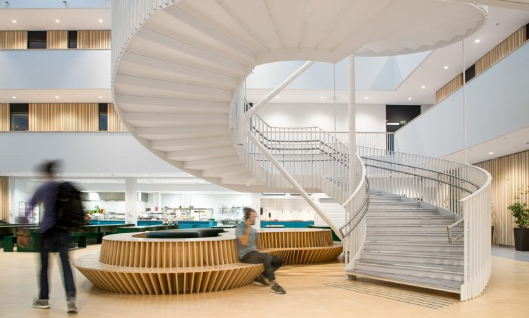 produktfotografering av trapper for Midthaug, Rambøll Arkitekter med KHR arkitekter og Snøhetta