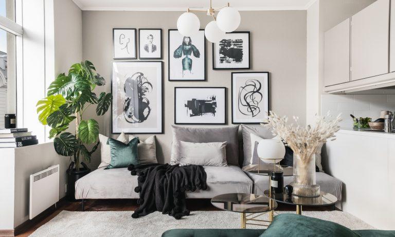 design av bolig, stylet, boligfotografering for Heimdal Eiendomsmegling