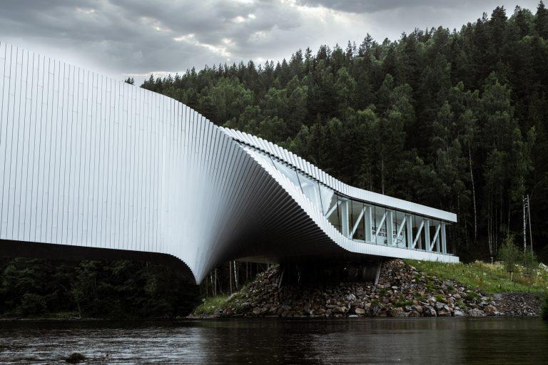 Arkitekturfotografering og landskapsarkitektur av The Twist, Kistefos Museum