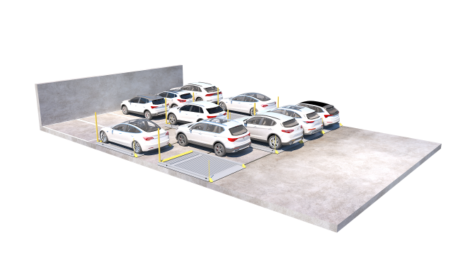 2020 16 Parking Platform 501 200905 with cars