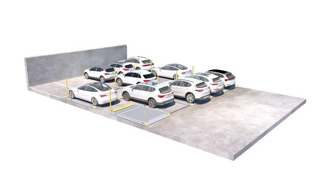 2020 16 Parking Platform 501 200905 with cars