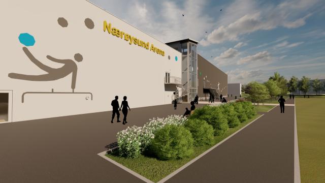 Web Nærøysund Arena Southwest 2 view